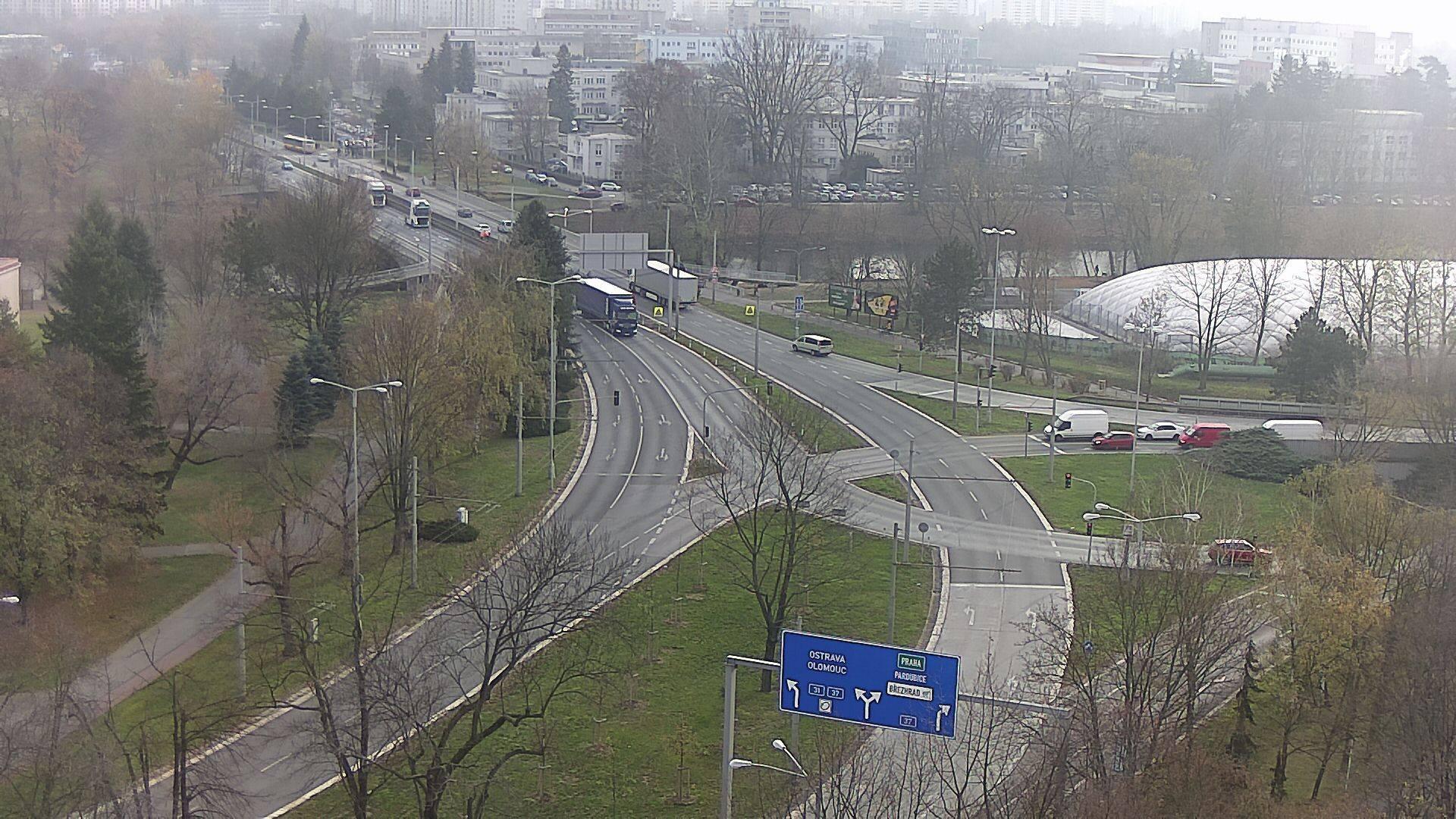 Webová kamera - Křižovatka u soutoku - čas 10:00