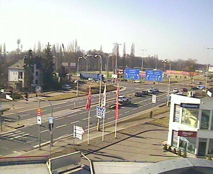 Webová kamera - křižovatka Tesla - čas 10:00