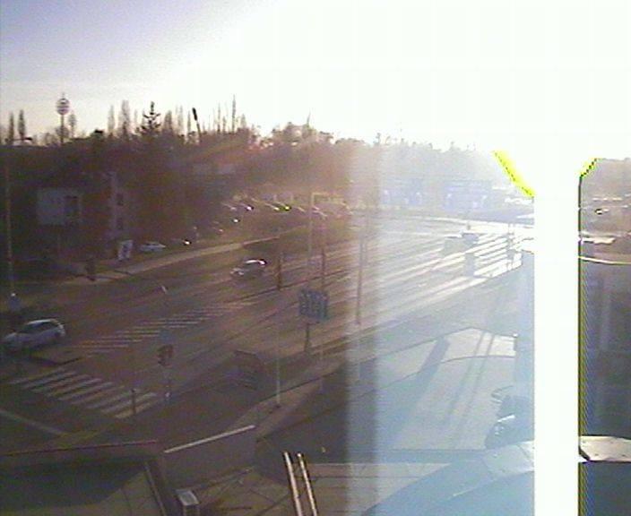 Webová kamera - křižovatka Tesla - čas 16:00